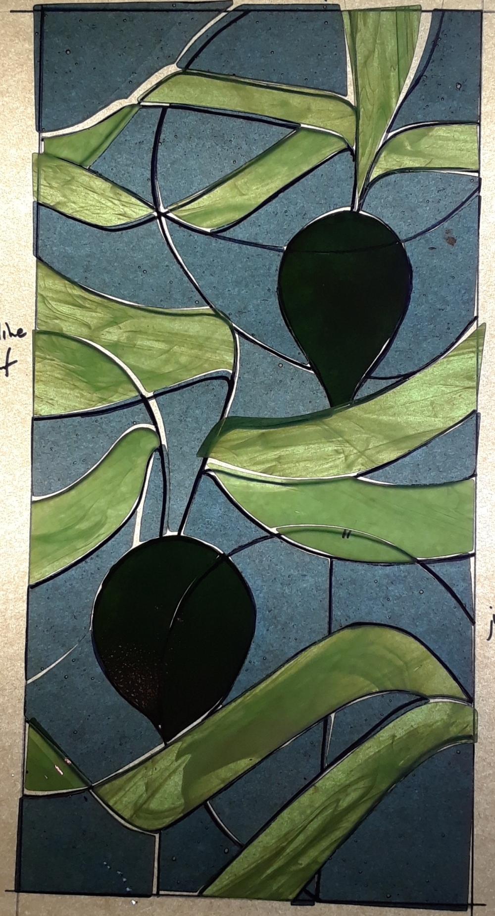 dark green kelp pair vertical